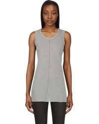 Nicolas Andreas Taralis | Heather Grey Raw Edge Tank Top | Lyst