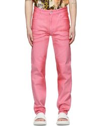 Givenchy ピンク Shiny Polished ジーンズ