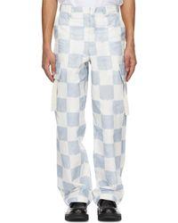 Jacquemus - ブルー & ホワイト Le Pantalon Alzu カーゴ パンツ - Lyst