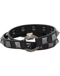 Valentino Black Valentino Garavani Rockstud Wrap Bracelet