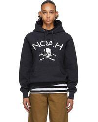 Noah Navy Jolly Roger Hoodie - Blue