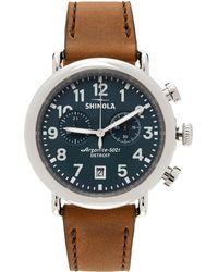 Shinola ブラウン & ブルー The Runwell Chrono 41mm 腕時計