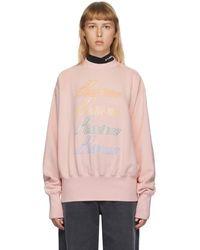 we11done - ピンク Iridescent ロゴ スウェットシャツ - Lyst