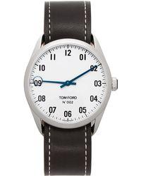 Tom Ford ブラック & シルバー 002 腕時計