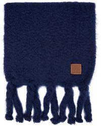 Loewe - ブルー モヘア マフラー - Lyst