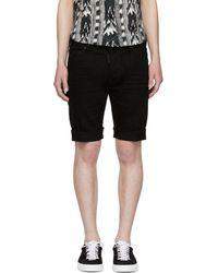 DSquared² - Black Denim Long Mod Shorts - Lyst