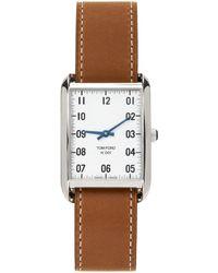 Tom Ford ブラウン & シルバー 001 腕時計