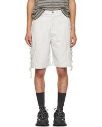 Acne Studios - Kling Sat Cotton Shorts - Lyst