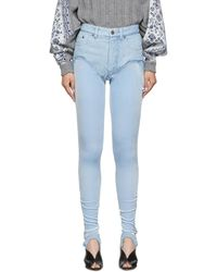 Y. Project Jean bleu Stirrup Shorts