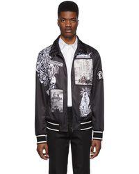 Dolce & Gabbana Black Collage Zip-up Sweater
