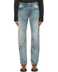 Givenchy Jean vintage bleu en denim à clous