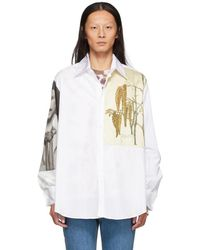 Loewe - Chemise blanche Botanical and Portrait - Lyst