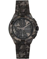 Maurice Lacroix ブラック 迷彩 Aikon 44mm クロノグラフ 腕時計
