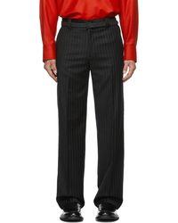 Commission Ssense Exclusive Pinstripe Carpenter Tailored Pants - Black