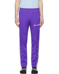 Palm Angels - Purple Classic Track Trousers - Lyst