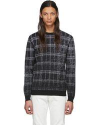 Fendi - ブラック And グレー ウール Forever セーター - Lyst