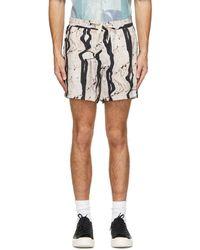 Tiger Of Sweden Beige Printed Twolum Shorts - Multicolour
