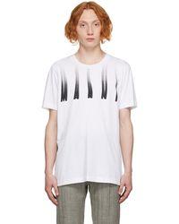 Marni ホワイト Distorted ロゴ T シャツ
