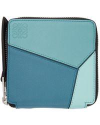 Loewe - Blue Square Puzzle Zip Wallet - Lyst