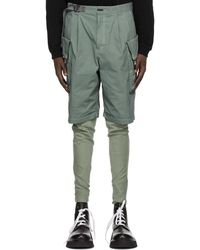 The Viridi-anne Green Cordura Garment-dyed Shorts