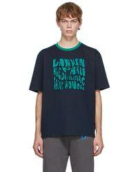 Lanvin ネイビー ロゴ T シャツ - ブルー