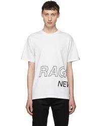 Rag & Bone - White Wrap Around Logo T-shirt - Lyst