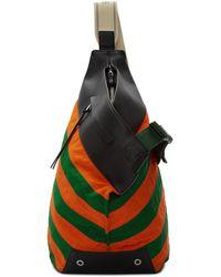 Loewe グリーン And オレンジ アントン バックパック - マルチカラー