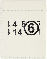 MM6 by Maison Martin Margiela オフホワイト ロゴ コイン ケース