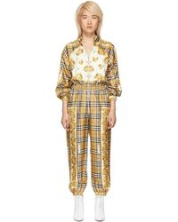 Burberry - Yellow Check Jumpsuit - Lyst