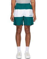 Noah Adidas Originals Edition グリーン And ホワイト シェル ロゴ ショーツ