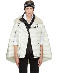 Moncler Grenoble - Off-white Orcleres Cape - Lyst