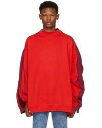 Y. Project - Red Double Sweatshirt - Lyst