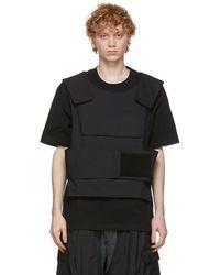 Sankuanz Black & Navy Harness T-shirt
