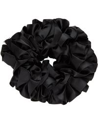 Maryam Nassir Zadeh Silk Carnation Scrunchie - Black
