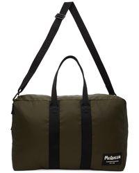 Alexander McQueen Khaki Tag Zipped Duffle Bag - Multicolour