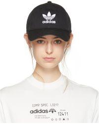 Adidas Originals | Black Trefoil Cap | Lyst