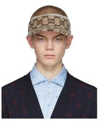 Gucci Beige Wool GG Visor - Natural