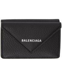 Balenciaga - Black Paper Thin Mini Wallet - Lyst