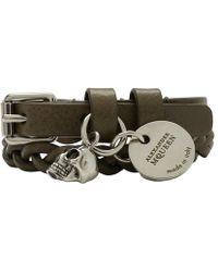 Alexander McQueen - Green Double Wrap Bracelet - Lyst