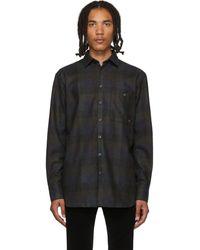 Etudes Studio マルチカラー ウール チェック ポートレート シャツ - ブラック