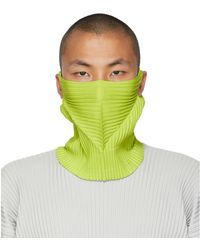 Homme Plissé Issey Miyake Green Pleats Tube Neck Warmer