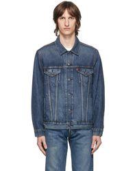 Levi's ブルー デニム ビンテージ フィット トラッカー ジャケット