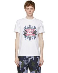 Versace Jeans Couture - ホワイト ロゴ T シャツ - Lyst