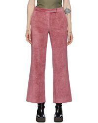 Marina Moscone Blazer en velours côtelé rose Irving
