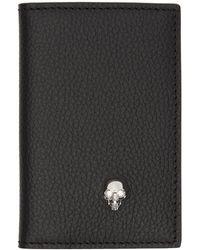 Alexander McQueen - Black Skull Bifold Card Holder - Lyst