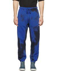 DIESEL ブラック & ブルー P-calton-rib-b1 ラウンジ パンツ