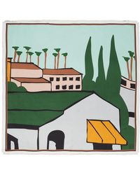 Loewe - Ken Price Edition グリーン シルク La スカーフ - Lyst