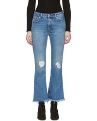 MSGM - Blue Flared Jeans - Lyst