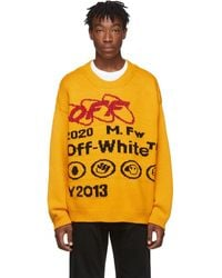 Off-White c/o Virgil Abloh - イエロー And ブラック インダストリアル Y013 セーター - Lyst