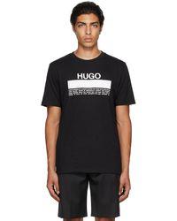 HUGO ブラック Daitai T シャツ